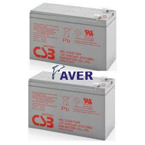 AVR22  Pakiet baterii  2szt akumulatorów 10lat CSB 208WHr do UPS DataShield T2+200