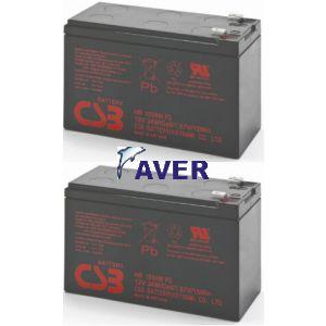 SIN-2050e, SIN-2050X SINUS LCD - 2szt akumulatorów 3-5lat zamienniki do UPS 216Whr
