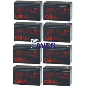 AVR5.4 Pakiet baterii 8szt akumulatorów 691WHr CSB-Hitachi 5lat   do UPS
