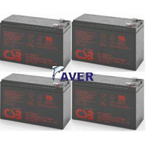 AVR33.2 Pakiet baterii 4szt akumulatorów 432Whr CSB-Hitachi 3-5lat  do UPS