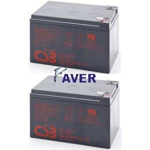 SU1000RM, SU1000RMI, SU1000RMINET pakiet baterii  2szt akumulatorów 288Whr 5lat