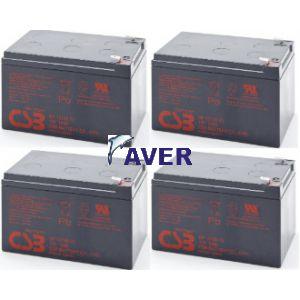 Eaton Powerware 05147366-5592 Pakiet baterii 4szt akumulatorów 5lat 576WH