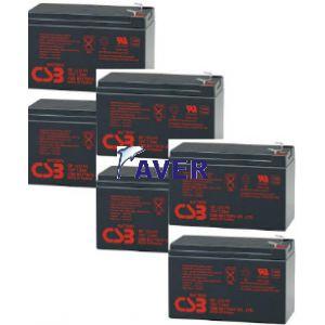 OtRT-2500 XL SINUS LCD RT, JsRT-2200 SINUS  akumulatory wymienne 6 x GP518,4Whr 12V