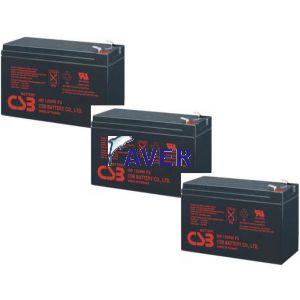 PowerWalker VI 1500 RT HID, PowerWalker VI 1500 RT LE Pakiet 3szt akumulatorów 3-5lat CSB 12,0V zamienniki do pakietu baterii 324Whr