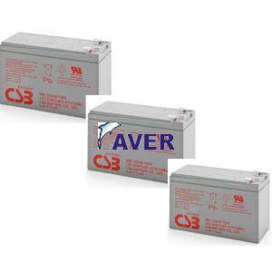 AVR38.3 Pakiet baterii 3szt akumulatorów 324Wh 12V CSB8-10lat  do UPS