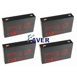 Eaton Powerware 103003269-6591 Pakiet baterii 4szt akumulatorów 122WHr 5 lat
