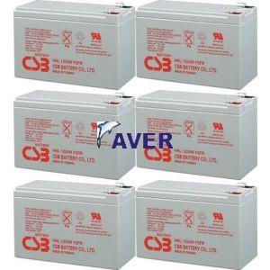 AVR22.3 Pakiet baterii 6szt akumulatorów 648Whr  CSB 10lat  do UPS