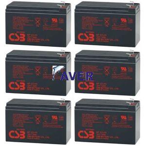 Eaton Powerware PW9125-3000 PW9125-3000VA Pakiet baterii 6szt akumulatorów 5lat 518,4Whr