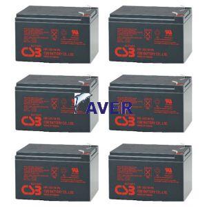Dell 1920w Rack UPS Pakiet 6szt akumulatorów 3-5lat 648Whr