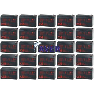 GE 12413 LanPro 6-31T, GE LanPro 5-31T Pakiet 20 szt akumulatorów 5lat CSB 1728WHr 12,0V