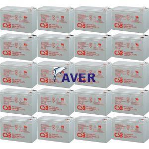 Eaton PW9125 240 EBM Pakiet baterii 20 szt akumulatorów  10lat 2040WHr  12,0V