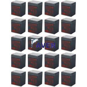 Eaton Powerworks RS 6k Pakiet baterii 20szt akumulatorów 1224Whr 5lat CSB