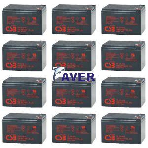 AVR33.6 Pakiet baterii 12szt akumulatorów 1296Whr CSB 3-5lat  do UPS