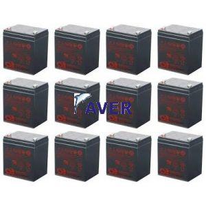 Eaton Powerware PW5125-5/6000 Rackmount  PW5125-120EBM   Pakiet baterii 12szt akumulatorów do UPS 734Whr 5lat 12,0V