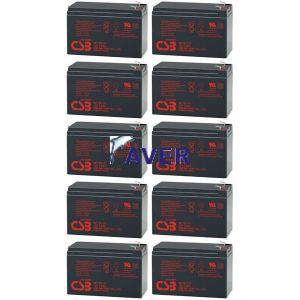 AVR5.5 Pakiet baterii 10 szt akumulatorów  864WHr 5lat CSB  do UPS Victron NetPro 4000