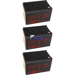GE 12326 Match 1500, GE 12441 Match 1500 19inch Pakiet baterii 3szt akumulatorów 5lat 432WHr 12V