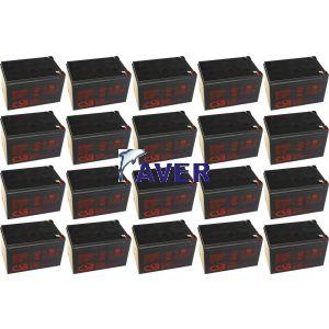 GE LanPro 8-31T, GE 12425 LanPro 10-31T Pakiet baterii 20szt akumulatorów 5lat 2880WHr 12V
